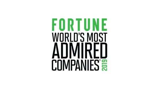 FORTUNE World's Most Admired Companies 2019 logo